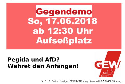 Demo Aufruf zum 17. Juni 2018