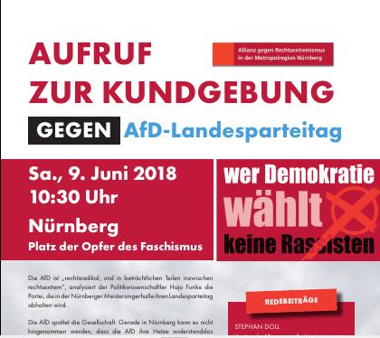 Kundgebung gegen AFD-Parteitag
